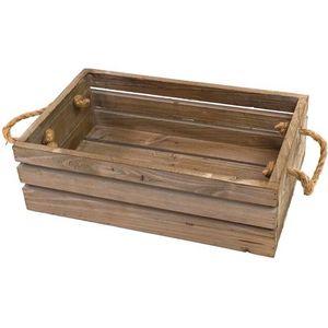 CHEMIN DE CAMPAGNE - caisse casier en bois de cuisine 40x25x12 cm -