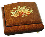 Ayousbox - boîte à musique darina - avec compartiment à bague - Carillon
