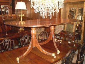 507 ANTIQUES - table de repas à rallonge sheraton - Tavolo Da Pranzo Ovale