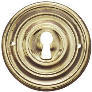 FERRURES ET PATINES - entree de meuble ronde en laiton repousse style lo - Bocchetta Per Serratura Mobile