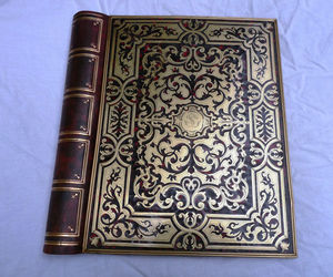 Art & Antiques - porte documents faux livres en marqueterie boulle - Cartellina Portadocumenti