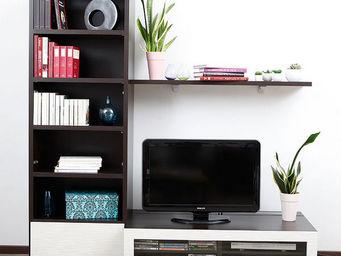Miliboo - symbiosis compo 1 structure chocolat - Mobile Tv & Hifi