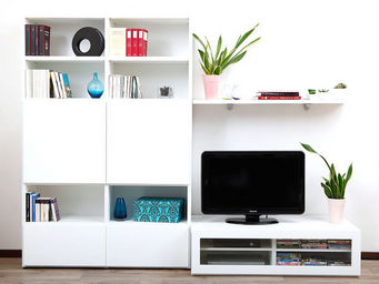 Miliboo - symbiosis compo 3 structure blanche - Mobile Tv & Hifi