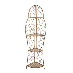 LONDON ORNAMENTS - leaf corner shelf unit - Scaffale Angolare