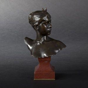 Expertissim - a. falguiere. buste de diane en bronze - Busto