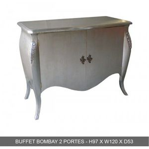 DECO PRIVE - buffet baroque argente bombay - Credenza Bassa
