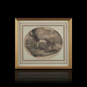 Expertissim - chevaux flamands. lithographie d'engelmann d'apr - Stampa