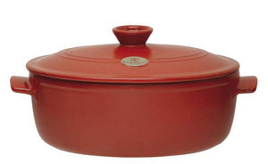 Emile Henry - cocotte ovale rouge 4,7 litres - Casseruole