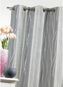HOMEMAISON.COM - rideau en jacquard imprimé en relief racine - Tende A Occhielli