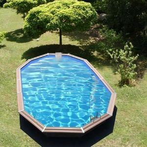 Christaline - gold piscine bois evolux 860x535x147cm - Piscina Sopraelevata In Legno