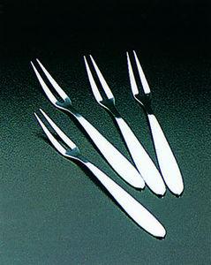 WHITE LABEL - ensemble de 4 fourchettes à escargots en inox - Forchetta Per Lumache