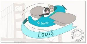 BABY SPHERE - plaque de porte enfant aviateur - Targa Per La Cameretta