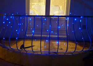 FEERIE SOLAIRE - guirlande solaire rideau 80 leds bleues 3m80 - Ghirlanda Luminosa