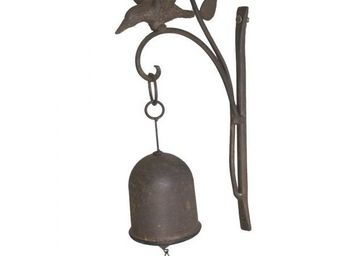 L'HERITIER DU TEMPS - cloche de porte oiseau fonte - Campanella Da Esterno