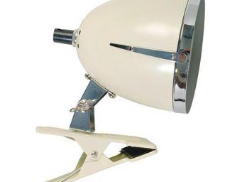 La Chaise Longue - lampe colombus clip petit modèle ivoire - Lampada A Pinza