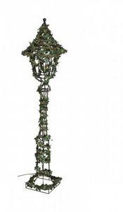 Demeure et Jardin - réverbère feuillagé électrifié - Lampione