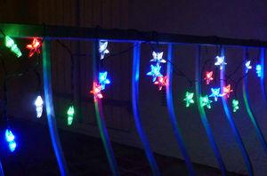 FEERIE SOLAIRE - guirlande solaire etoiles multicolores 20 leds 5,8 - Ghirlanda Luminosa