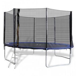 WHITE LABEL - trampoline 12' 4 pieds + filet de sécurité - Trampolino Elastico