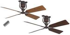 Casafan - ventilateur de plafond vintage moteur bronze pales - Ventilatore Da Soffitto