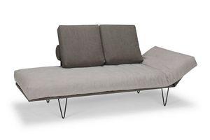 INNOVATION - canapé design rollo gris oie convertible lit 200* - Chaise Longue
