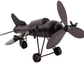 Aubry-Gaspard - avion ancien en métal 54x54x31cm - Modellino