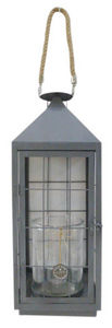 Aubry-Gaspard - lanterne de jardin en métal gris et verre - Lanterna Da Esterno