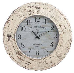 Aubry-Gaspard - horloge en bois vieilli hotel westminster - Orologio A Muro