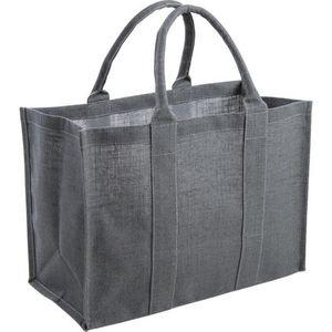 Aubry-Gaspard - sac en jute plastifiée gris - Cestino Da Picnic