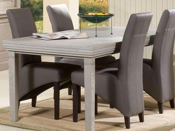 WHITE LABEL - table de repas - berty - l 180 x l 95 x h 75 - boi - Tavolo Da Pranzo Rettangolare