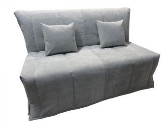 WHITE LABEL - canapé bz convertible flo gris clair 160*200cm mat - Divano Letto Con Apertura A Scorrimento
