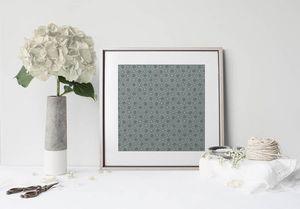 la Magie dans l'Image - print art trèfle vert-de-gris foncé - Poster