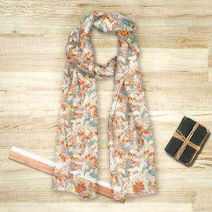 la Magie dans l'Image - foulard tropical flowers nude - Foulard Quadrato