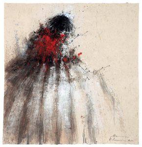HANNA SIDOROWICZ - ménine rouge - Quadro Contemporaneo