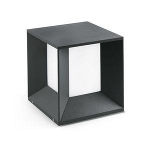 FARO - borne carrée extérieure mila led ip65 h24 cm - Lampada Segnapasso Da Esterno