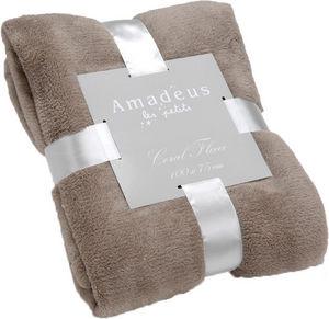 Amadeus - plaid doudou taupe - Coperta