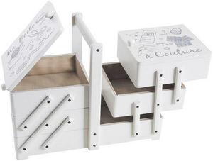 Aubry-Gaspard - boite à couture créative en bois - Scatola Da Cucito