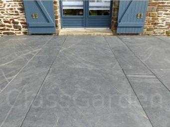 CLASSGARDEN - terrasse de 10 m² en dalle sciée de 100x100 - Lastra Per Pavimentazione Esterna