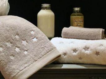 Liou - drap de bain brodé etoiles - Asciugamano Grande