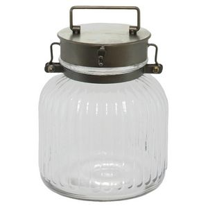 CHEMIN DE CAMPAGNE - bonbonnière bocal en verre et fer 22 cm - Bomboniera