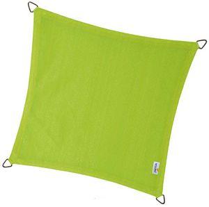 jardindeco - voile d'ombrage carrée coolfit vert lime 5 x 5 m - Tenda Da Esterno