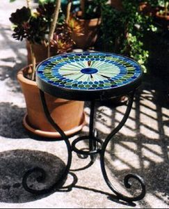 Beji Mozaike -  - Tavolino Rotondo Per Esterni