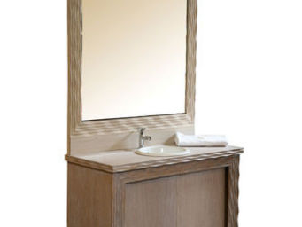 Luc Perron - meuble salle de bain gougé - Bagno