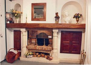 Jean Magnan Cheminees - calvi foyer mixte avec amménagement - Camino Con Focolare Chiuso