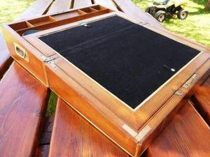 La Timonerie Antiquités marine - ecritoire officier acajou xixè siecle - Box Scrittoio