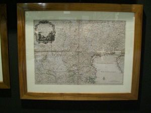 LA CONGREGA ANTICHITA' - stampa raf carta geografica del veneto - Carta Geografica