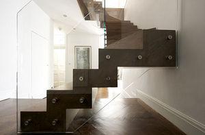 Tin Tab - zigzag stair with winders - Scala Girevole Due Quarti