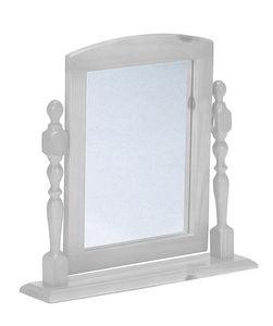COMFORIUM - miroir en pin massif pour coiffeuse blanc lasure - Specchio