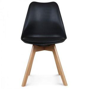 Demeure et Jardin - chaise style scandinave noire toundra - Sedia