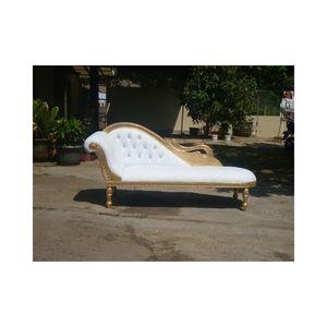 DECO PRIVE - cygne doré - Chaise Longue