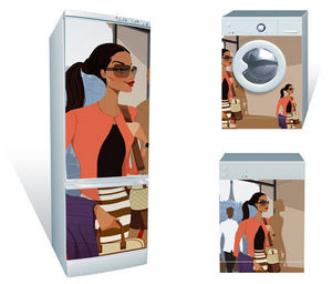 Original House - original panel. los imanes gigantes para decorar electrodomésticos - Calamita Per Elettrodomestici
